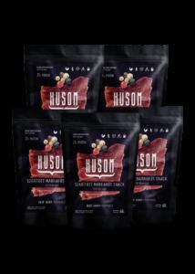 HUSOM TÖRTBORSOS szárított marhahús snack (beef jerky csomag, 5x40g)