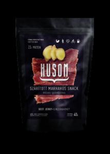 HUSOM MÉZES-GYÖMBÉRES szárított marhahús snack (beef jerky) 40g
