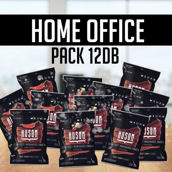 HOME OFFICE PACK szárított marhahús snack (beef jerky csomag, 12x25g)