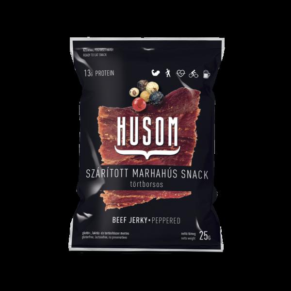 HUSOM TÖRTBORSOS szárított marhahús snack (beef jerky) 25g
