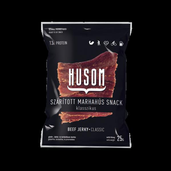 HUSOM KLASSZIKUS szárított marhahús snack (beef jerky) 25g